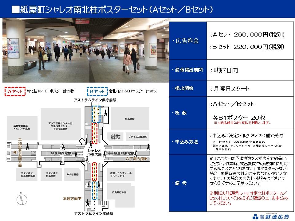 広島紙屋町シャレオ ポスターセット媒体資料 イメージ画像