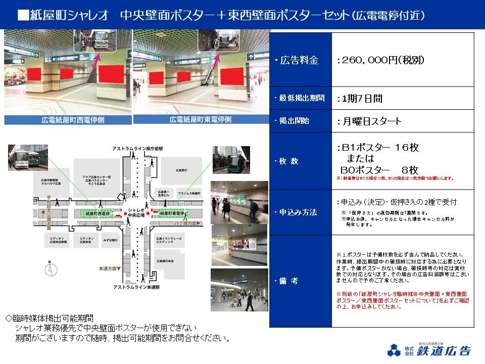 広島紙屋町シャレオ ポスター短期媒体資料